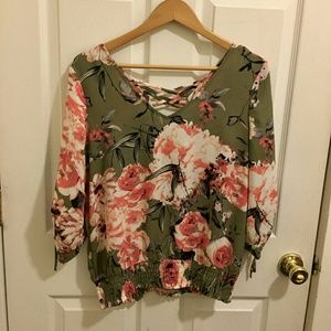 *LIKE NEW~ NY&Co Floral Polyester Chiffon Blouse